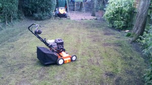 Scarifying and aerating lawn Nottingham